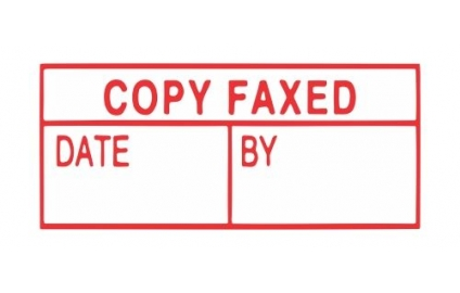 COPY FAXED DATE/BY
