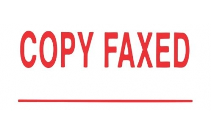 COPY FAXED